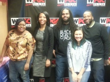Chanel Compton and Nehemiah Dixon with the Joe Clair Morning Show on WPGC-FM