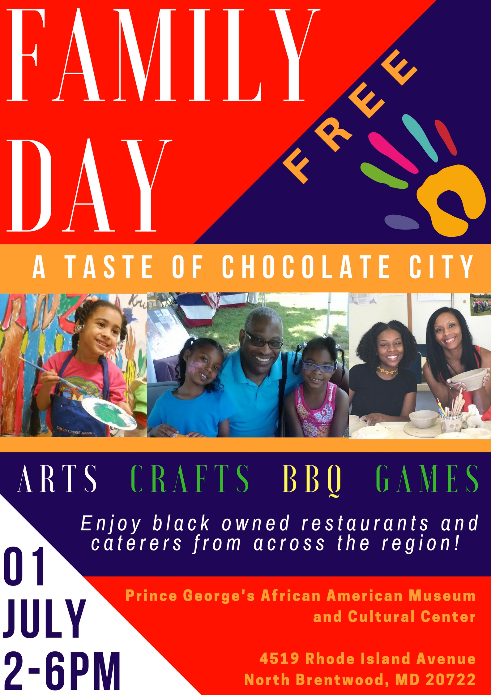 Upcoming Events Family Day: A Taste of Chocolate City Prince ...